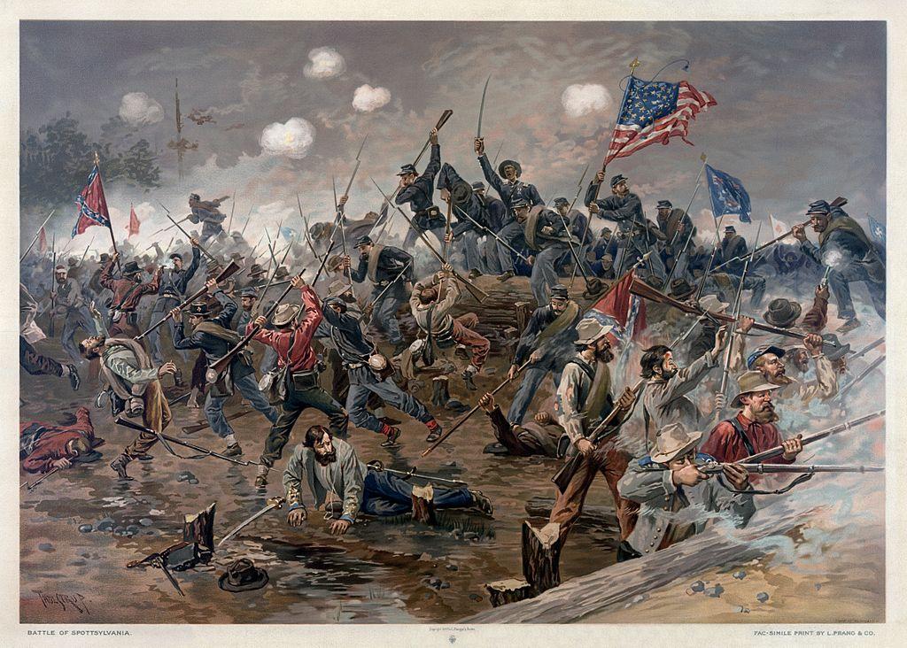 Battle of Spottsylvania by Thure de Thulstrup
