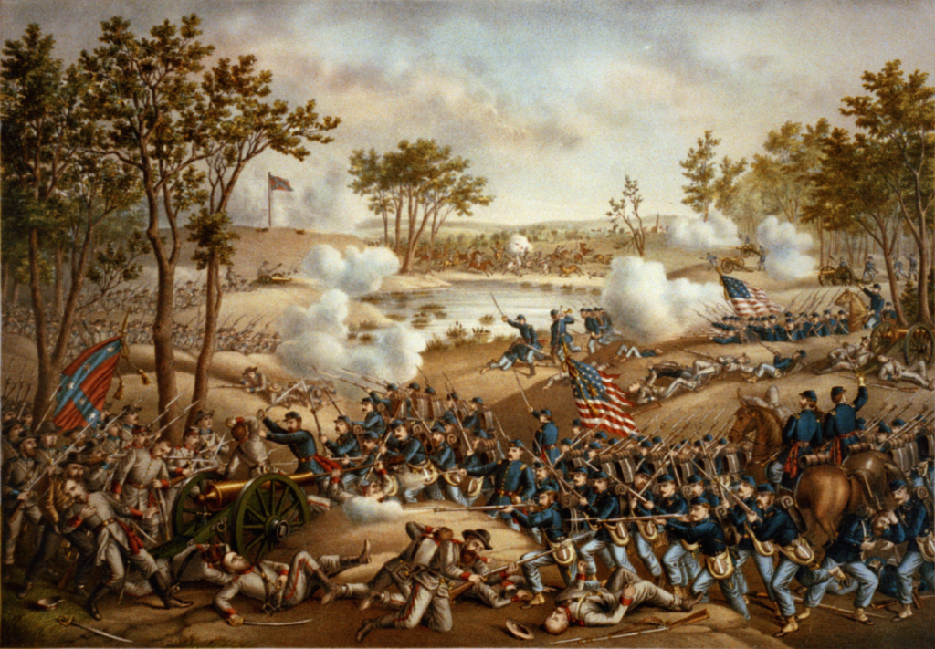 Battle of Cold Harbor by Kurz and Allison