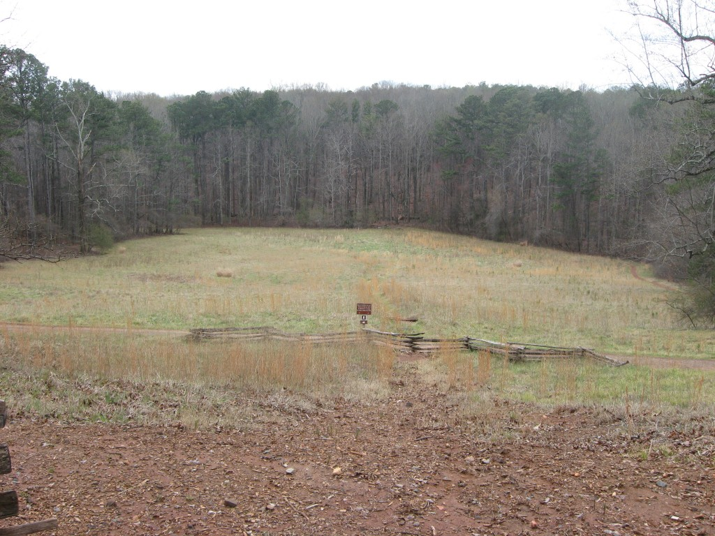 View from Cheatham's Hill toward direction of Union assault Kennesaw Mountain NBP