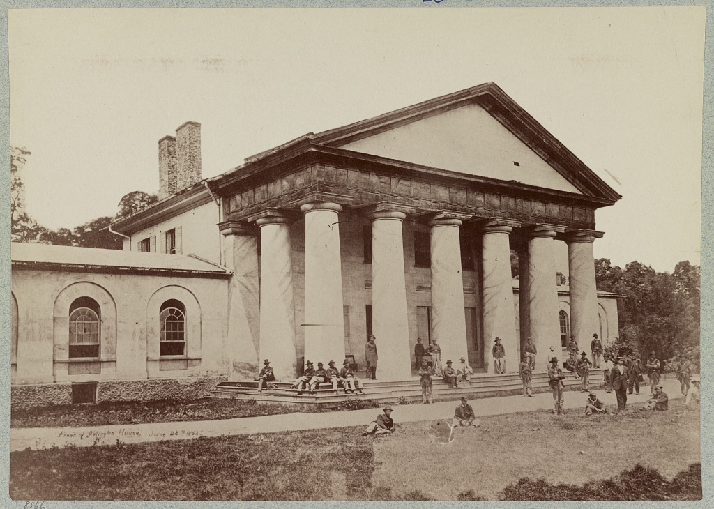 Arlington House With Union Soldiers June 28th 1864