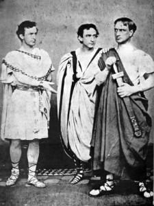 John, Edwin, and Junius Booth (L to R) November 1864