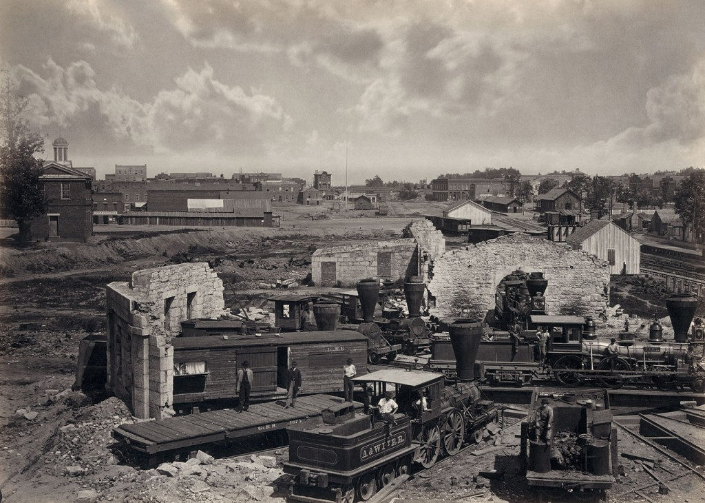 Destroyed Railroad Roundhouse in Atlanta September 1864
