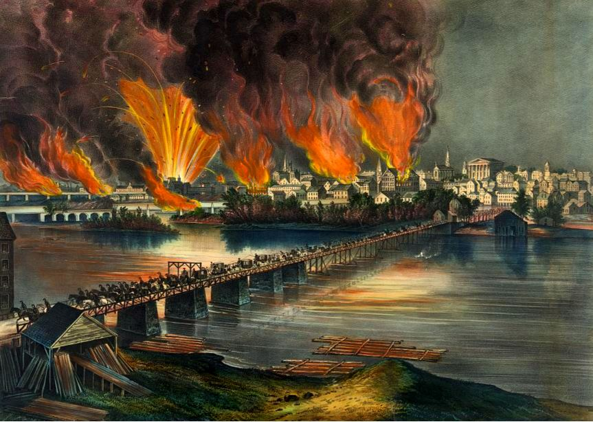 Fall of Richmond by Currier and Ives