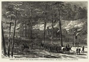 Sherman's Army Marching Through South Carolina