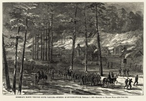 Sherman's Army Marching Through South Carolina