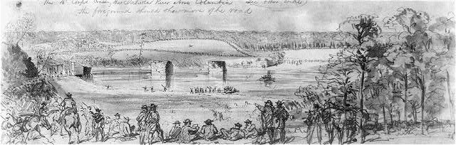 The Union 15th Corps Crossing the Saluda River Near Columbia