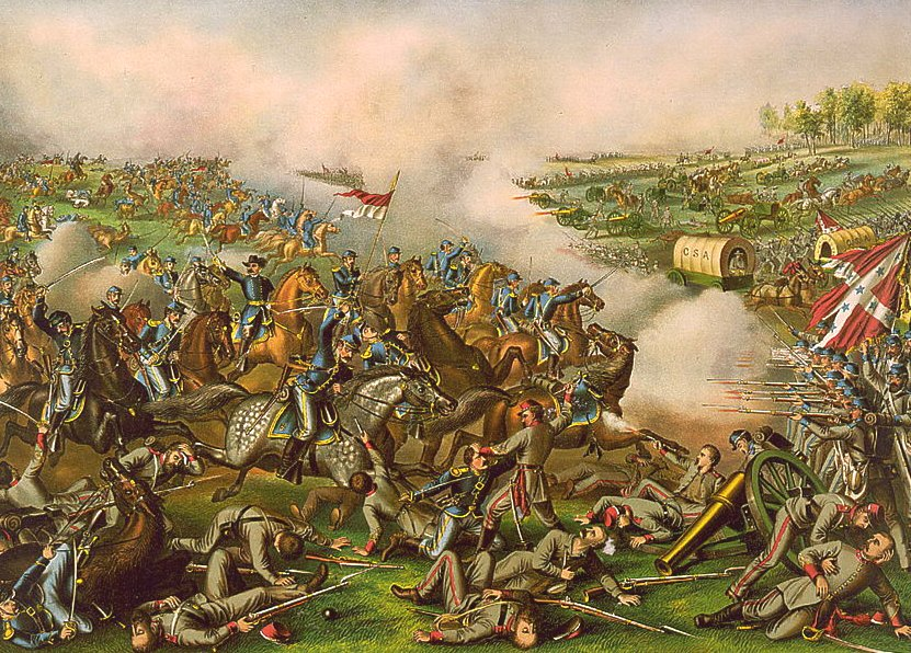 Battle of Five Forks by Kurz and Allison
