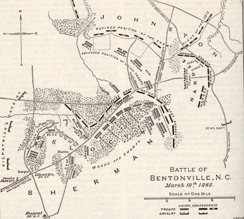 Map of the Battle of Bentonville