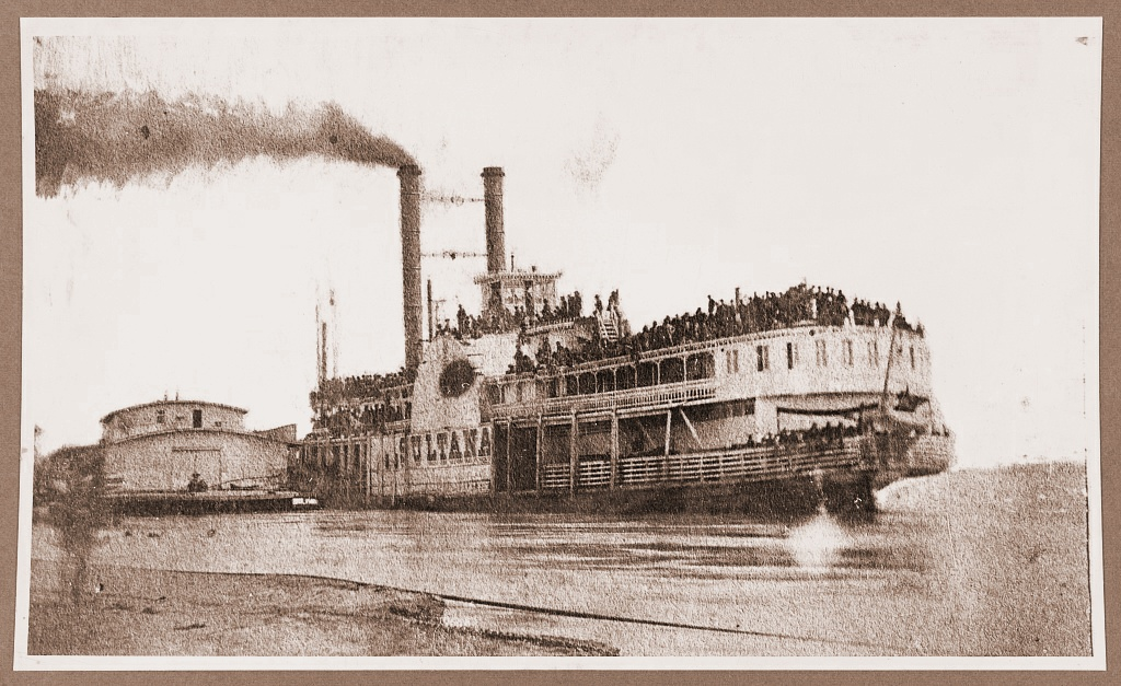 The Sultana, With Its Decks Packed With Former POWs Hours Before Exploding