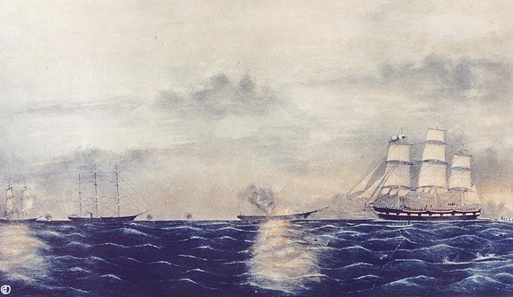 CSS Shenandoah Destroying Whaling Ships
