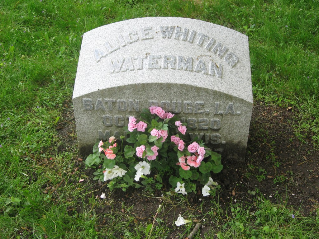 Grave of Alice Waterman, Madison, Wisconsin
