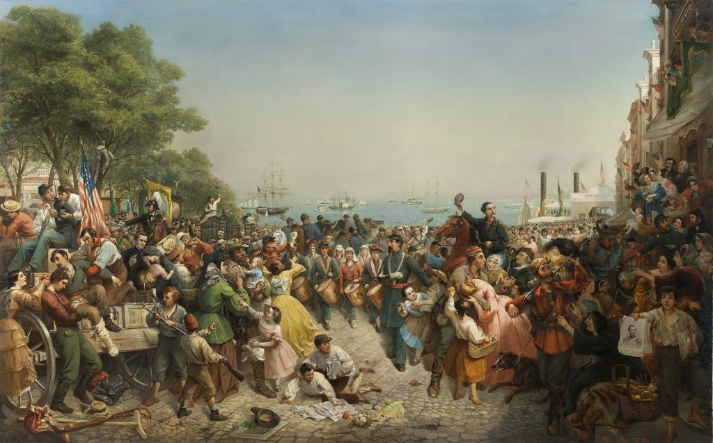 Return of the 69th (Irish) Regiment NYSM from the Seat of War by Louis Lang