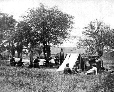 Shelter Tent at Federal Picket Station Near Bull Run, VA in 1862