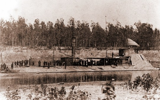 USS Osage on the Red River, Louisiana in 1864