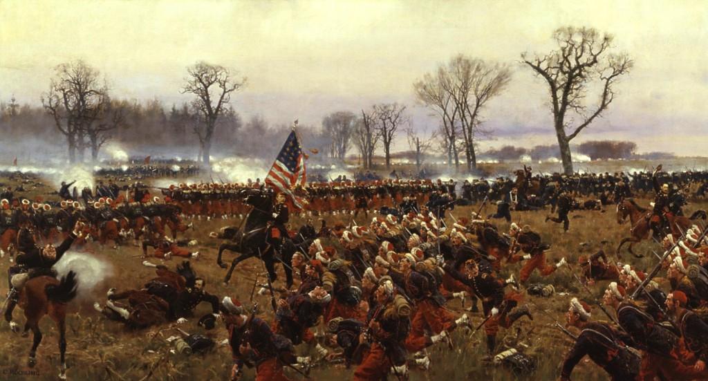 Battle of Fredericksburg by Carl Rochling
