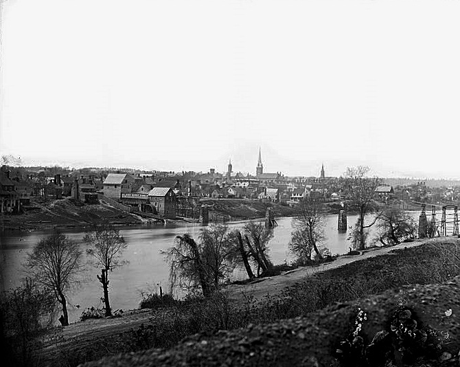Fredericksburg Virginia Across the Rappahannock River