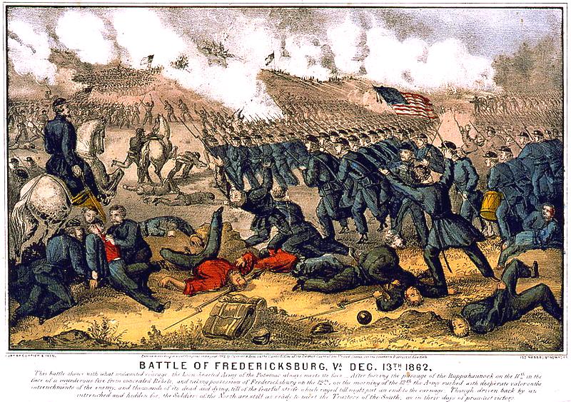 Battle of Fredericksburg 13 Dec 1862 by Currier & Ives