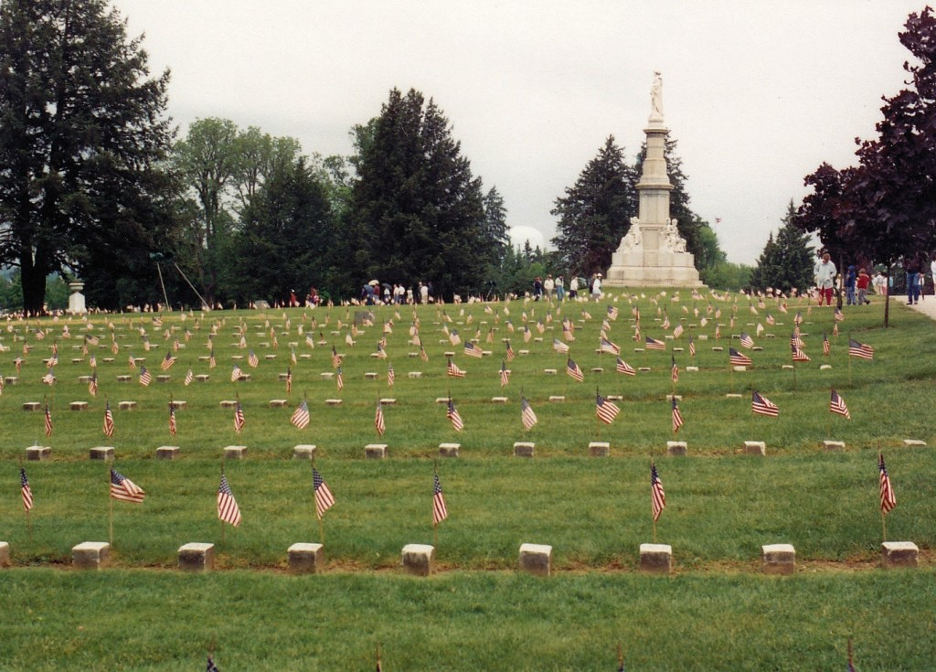 Gettysburg National Cemetery on Memorial Day