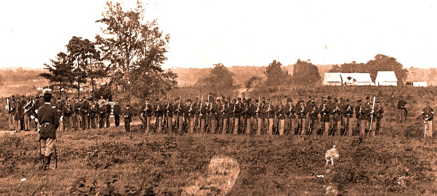 Men of the 8th U.S. Infantry in 1863.
