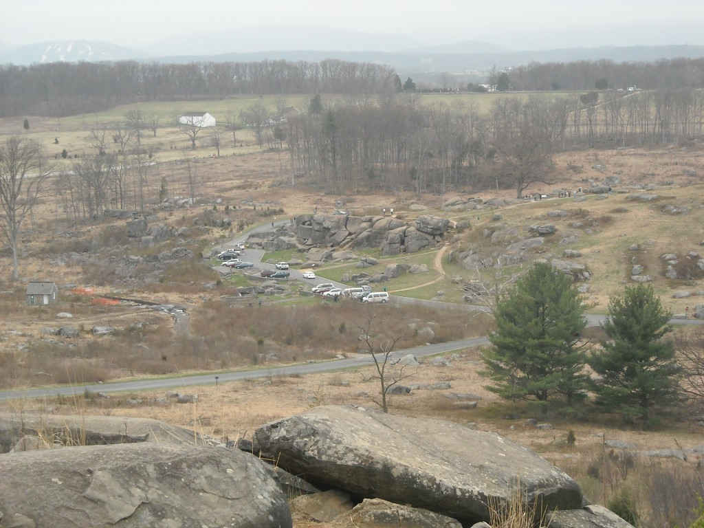 View of Devil's Den from Little Round Top Gettysburg National Military Park