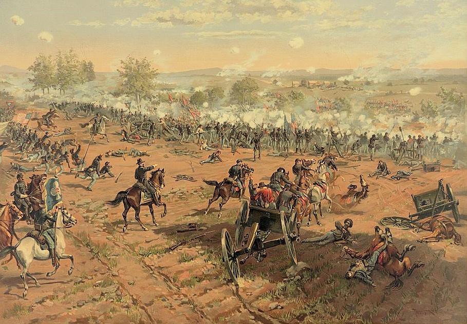 Battle of Gettysburg by Thure de Thulstrup
