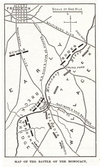 Map of the Battle of Monocacy