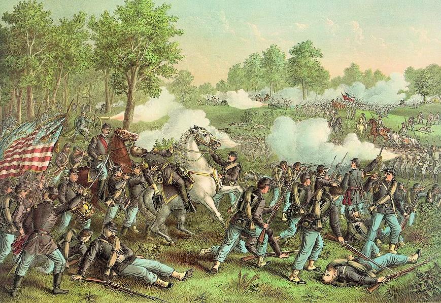 Battle of Wilson's Creek by Kurz and Allison