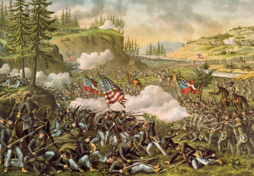 Battle of Chickamauga by Kurz and Allison