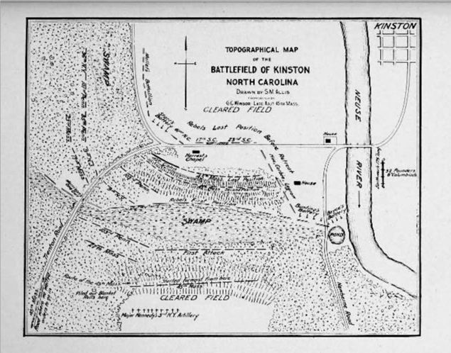 map-of-battle-of-kinston-nc