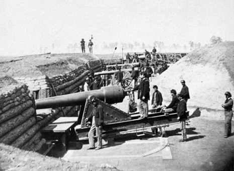 Interior of Fort Brady During the Civil War
