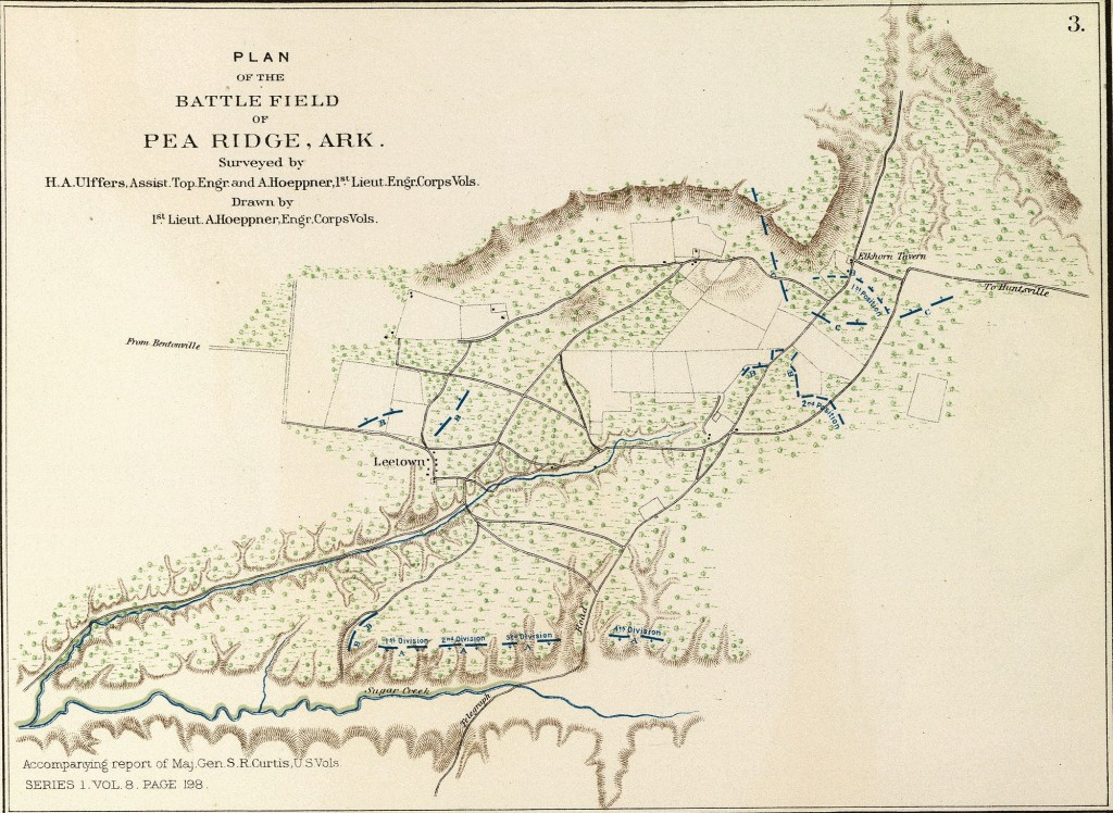 Plan of the Battlefield of Pea Ridge