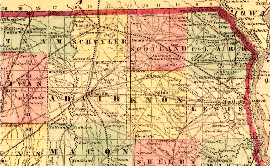 Kirksville Missouri Map.The Battle Of Kirksville Missouri Iron Brigader