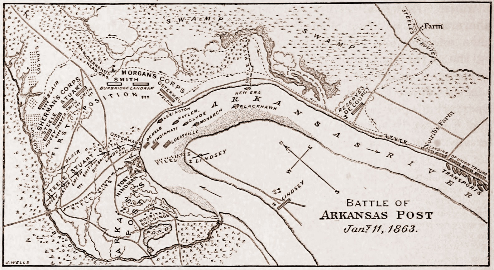 Admiral David Porteru2019s Report On The Mississippi Squadron At The Battle Of Arkansas Post U2013 Iron ...